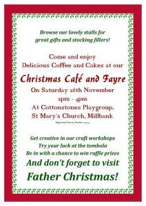 Cottonstones Playgroup Christmas Café and Fair, St Mary's Church