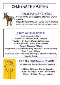 Easter services poster 2017