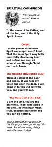 Spiritual Communion Booklet